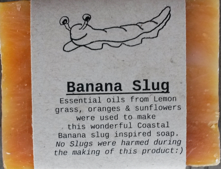 BANANA SLUG Natural Soap Bar from Mendocino Made Marvels