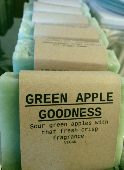 GREEN APPLE GOODNESS Natural Soap Bar from Mendocino Made Marvels