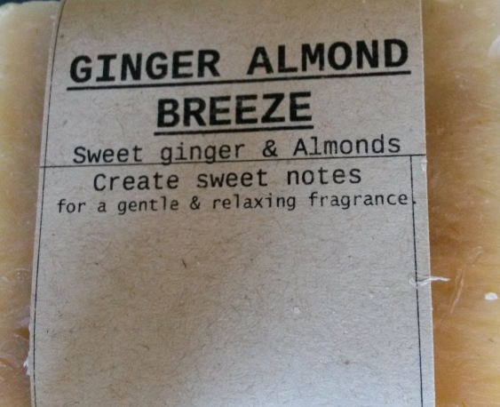 GINGER ALMOND BREEZE Natural Soap Bar from Mendocino Made Marvels