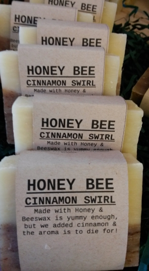 HONEY BEE CINNAMON SWIRL Natural Soap Bar from Mendocino Made Marvels