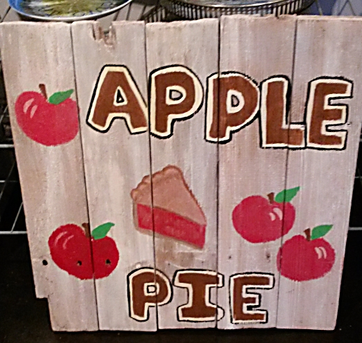 APPLE PIE Reclaimed Wood Painted Sign from Mendocino Made Marvels