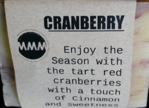 CRANBERRY Natural Soap Bar from Mendocino Made Marvels