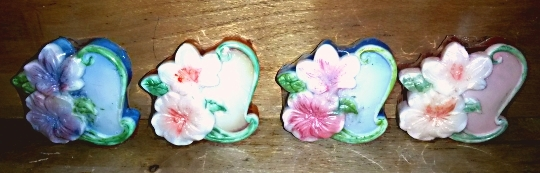 Floral Heart Pair of Soaps from Mendocino Made Marvels