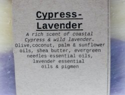 CYPRESS LAVENDER Natural Soap Bar