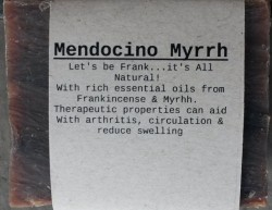 MENDOCINO MYRRH Natural Soap Bar