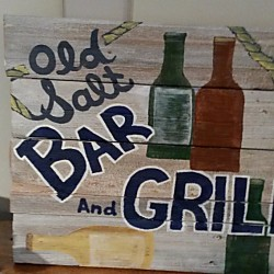 BAR & GRILL  Reclaimed Wood Sign