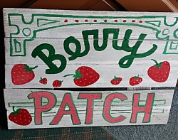 BERRY PATCH  Reclaimed Wood Sign