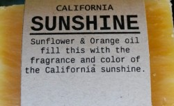 CALIFORNIA SUNSHINE Natural Soap Bar