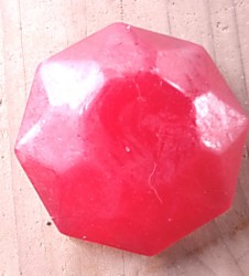 Jewel shaped Soap ' Round Ruby'